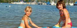 Wasserspaß im Chiemsee, © Chiemsee Camping