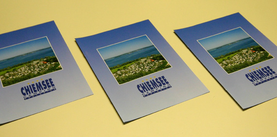 Campingprospekt für den Versand, © Chiemsee Camping