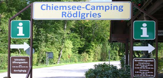 Eingang, © Chiemsee Camping