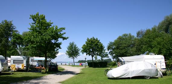 Stellplatz A370, © Chiemsee Camping