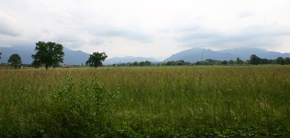 Landschaft in der Nähe des Achendeltas, © Chiemsee Camping