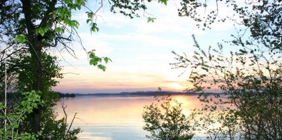 Sonnenuntergang am Chiemsee, © Chiemsee Camping