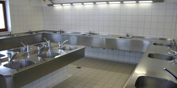 Spülküche, © Chiemsee Camping